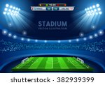 soccer game vector stadium... | Shutterstock .eps vector #382939399