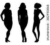 female silhouettes with... | Shutterstock . vector #382950868