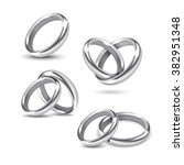 vector set of silver wedding... | Shutterstock .eps vector #382951348