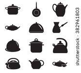 set of twelve kitchen icons | Shutterstock .eps vector #382961803
