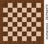 chessboard with letters a top... | Shutterstock .eps vector #382966474