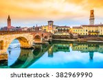 verona  italy. scenery with...   Shutterstock . vector #382969990