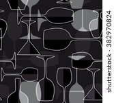 seamless wineglass background.... | Shutterstock .eps vector #382970824