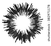 radial black concentric... | Shutterstock .eps vector #382971178