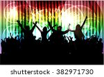 dancing people silhouettes. | Shutterstock .eps vector #382971730