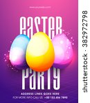 creative glossy colorful eggs... | Shutterstock .eps vector #382972798