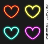 heart neon icon | Shutterstock .eps vector #382978450