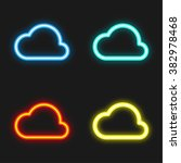 cloud neon icon | Shutterstock .eps vector #382978468