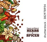 herbs and spices color... | Shutterstock .eps vector #382978954