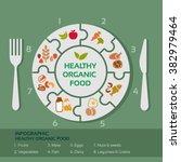 vector concept of healthy food... | Shutterstock .eps vector #382979464