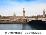 alexandre iii bridge and... | Shutterstock . vector #382983298