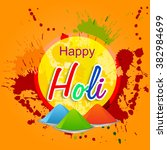 holi festival flyer design or...   Shutterstock .eps vector #382984699
