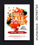 biggest sale of the year  flyer ... | Shutterstock .eps vector #382985764