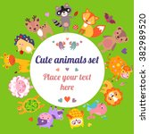 cute animals jpg. cute animals... | Shutterstock . vector #382989520