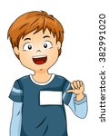 Illustration Of A Boy Showing...
