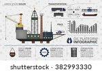 oil platform infographics.... | Shutterstock .eps vector #382993330