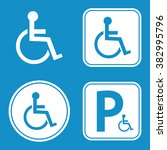 disabled handicap icon set .... | Shutterstock .eps vector #382995796
