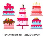 vector color flat background... | Shutterstock .eps vector #382995904