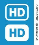 hd icon set . vector... | Shutterstock .eps vector #382996390