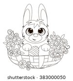 easter bunny in a basket.