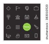 set of travel holiday vector... | Shutterstock .eps vector #383010520