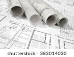 architectural project | Shutterstock . vector #383014030