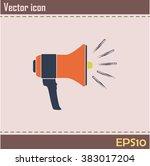 vector icon megaphone | Shutterstock .eps vector #383017204