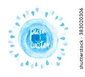 pure water vector illustration. ... | Shutterstock .eps vector #383020306