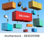 delivery background concept.... | Shutterstock . vector #383020588