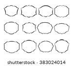 set calligraphic frames ... | Shutterstock .eps vector #383024014