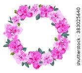 Pink Flower Frame  Floral...