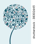 abstract floral tree | Shutterstock .eps vector #38302645