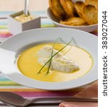 Small photo of Bourride, a traditional French fish soup served with aioli garlic sauce.