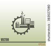 industrial icon | Shutterstock .eps vector #383027080