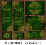 collection of ethnic cards menu ... | Shutterstock .eps vector #383027344