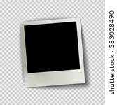 old empty realistic photo frame ... | Shutterstock .eps vector #383028490