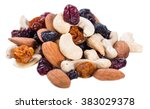 trail mix isolated on white... | Shutterstock . vector #383029378