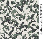 the military camouflage texture ... | Shutterstock . vector #383030959