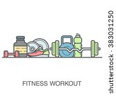 fitness vector background with... | Shutterstock .eps vector #383031250
