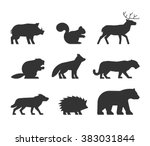 vector set figures of wild...