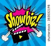 "pop art comics icon ""showbiz "". ... | Shutterstock .eps vector #383032198"