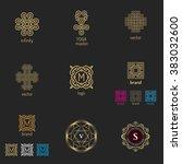 vector set of logo design... | Shutterstock .eps vector #383032600
