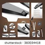 stationery set | Shutterstock .eps vector #383034418