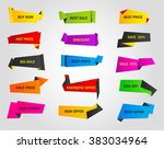 vector stickers  price tag ... | Shutterstock .eps vector #383034964