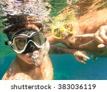 adventurous best friends taking ... | Shutterstock . vector #383036119