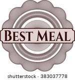 best meal inside a money style... | Shutterstock .eps vector #383037778