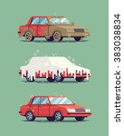 cool vector flat illustration... | Shutterstock .eps vector #383038834