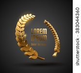 gold award laurel wreath | Shutterstock .eps vector #383044360