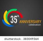 35th anniversary celebration... | Shutterstock .eps vector #383049364
