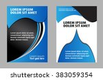 abstract for text  vector flyer  | Shutterstock .eps vector #383059354